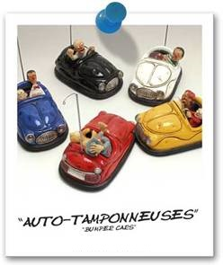 451-0018 BUMPERS CAR / AUTO TAMPONNEUSES - IN PAPER BOX LUNA PARK by Forchino
