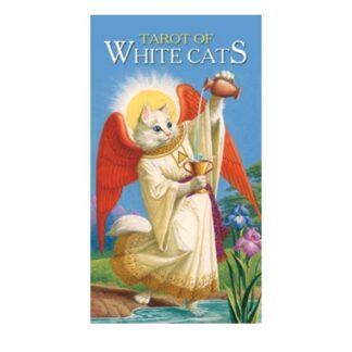 804-0083 COLLECTIBLE TAROT WHITE CATS LO SCARABEO